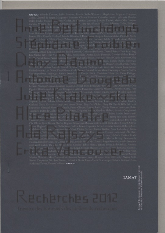 Recherches 2012