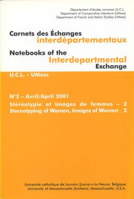 Carnets des Échanges interdépartementaux N°2 – Avril 2001