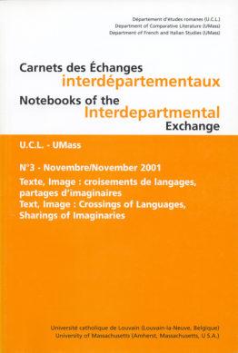 Carnets des Échanges interdépartementaux N°3 - Novembre 2001
